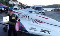 Latvijas ātrumlaivu pilots Ņikita Lijcs uzvar pasaules čempionāta posmā Norvēģijā