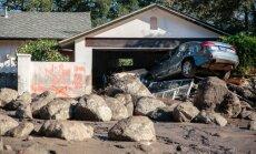 Kalifornijas dubļu lavīnas veicinājuši postošie ugunsgrēki