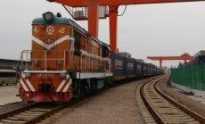 No Ķīnas uz Rīgu izbraucis pirmais testa konteinervilciens