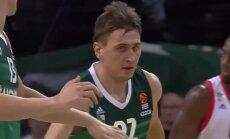 Video: 'Žalgiris' basketbolists Ulanovs kļuvis par Eirolīgas kārtas vērtīgāko spēlētāju