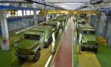 Foto: Krievijas militāro transportlīdzekļu ražotne Urālos