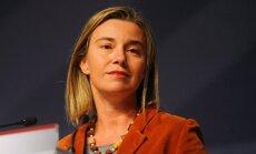 Mogerīni: Uzlabojoties situācijai Ukrainā, pret Krieviju noteiktās sankcijas varētu atcelt