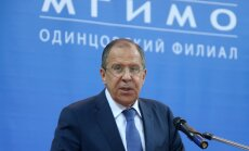 Lavrovs: Baltijas jūras reģionā nav draudu, kas attaisnotu tā militarizāciju