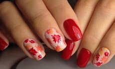 ФОТО. Осенний маникюр: 25 идей, как нарисовать на ногтях листья