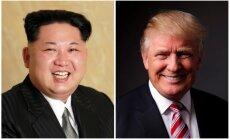 Donalds Tramps gatavs tikties ar diktatoru Kimu Čenunu