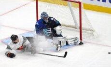 Ziemeļamerikas U-23 hokejisti pirms Pasaules kausa pārbaudes mačā apspēlē Eiropas komandu
