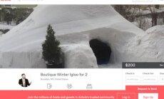 Jaunieši Ņujorkā uzceļ sniega iglu un piedāvā to izīrēt 'Airbnb' par 200 dolāriem
