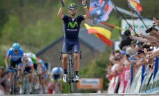 Spānis Valverde otro reizi triumfē prestižajā 'Fleche Wallonne' velobraucienā