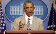 Obama: Krievija apmāca, apbruņo un finansē separātistus Ukrainā, ko pierāda attēli Ukrainas teritorijā