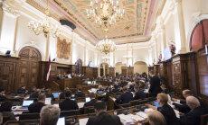Saeimas budžets nākamgad saruks par 4,17 miljoniem eiro