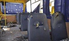 Doņeckā kaujinieku raķete trāpa autobusā; desmit bojāgājušo