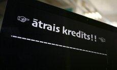 """Латвийцы набирают все больше """"быстрых"""" кредитов"""
