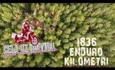 Video: Latviešu motobraucēji viesojas vecajā Apes mototrasē un igauņu partizānu bunkurā