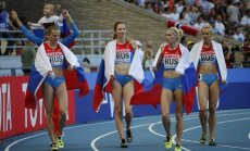 Krievijas skrējējas kļūst par pasaules čempionēm 4x400 metru stafetē
