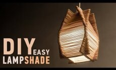 Video meistarklase: Stilīgas lampas izveide no koka skaliņiem