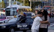 Foto: Iedzīvotājus Mehiko pārsteidz septiņu magnitūdu zemestrīce