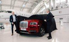 ФОТО: В Риге представлен новый кроссовер Rolls-Royce — модель Cullinan