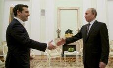"""Ципрас и Путин призвали прекратить """"санкционную войну"""""""