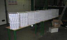 Grebņevas muitas punkta teritorijā pie miskastēm atrod kontrabandas cigarešu maisus un litru degvīna