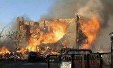 Foto: Televīzijas iedvesmots kalējs Ņujorkā nodedzina vairākas ēkas
