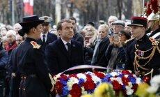 Foto: Francija atzīmē 11. novembri un godina 30 000 šobrīd operācijās nosūtītos karavīrus