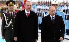 Erdogans brīdina Krieviju par AES būvniecības un gāzes piegāžu apturēšanu