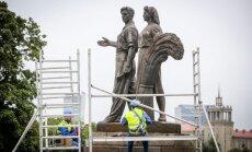 Sovetska lūdz Viļņai atdot no Zaļā tilta demontētās padomju laika skulptūras