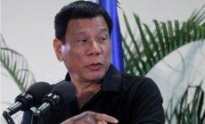 Duterte: Hitlers nogalināja miljoniem ebreju, es nogalināšu miljoniem narkomānu