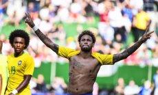 Neimars gūst vārtus Brazīlijas izlases noslēdzošajā pārbaudes spēlē pirms Pasaules kausa finālturnīra
