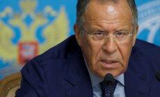Krievija nāk klajā ar konkrētu priekšlikumu pamieram Sīrijā, paziņo Lavrovs