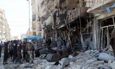 Sīrijas režīma gaisa triecienos iet bojā 27 civiliedzīvotāji