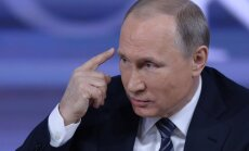 Putins par Krievijas iejaukšanos ASV prezidenta vēlēšanās: tie ir meli
