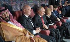 Песков объяснил жесты Путина на футболе в адрес принца Саудовской Аравии
