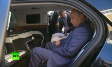 Video: Putins izrāda savu jauno limuzīnu Abū Dabī kroņprincim