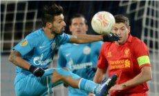 'Zeņit' futbolisti UEFA Eiropas līgā uzvar 'Liverpool'