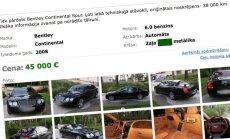 Pārdošanā izlikts Kargina ģimenes luksusa auto parks