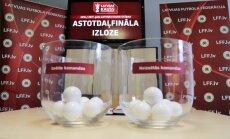 Izlozēti Latvijas kausa izcīņas futbolā astotdaļfinālu pāri