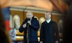 Krievijas prezidenta vēlēšanās saskaitītas visas balsis