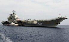 Krievijas vienīgais aviācijas bāzes kuģis dodas uz Sīriju