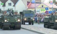 Svētku militārā parāde Krāslavā (tiešraide noslēgusies)