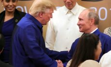 Tramps kritizē 'nīdējus un muļķus', kas negrib labas attiecības ar Krieviju