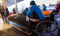 Parabobslejists Brants Eiropas čempionātam iesildās ar otro vietu PK posmā