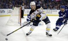 'Sabres' bez traumētā Girgensona NHL sezonas pirmspēdējā mačā zaudē 'Lightning' komandai