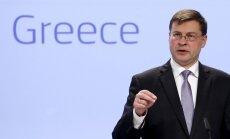 EP deputāti ar Dombrovski debatēs par palīdzības programmu Grieķijai