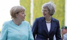 """Мэй и Меркель договорились о благоразумном """"брексите"""""""