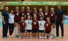 Latvijas volejbolistes ar pamatīgu sagrāvi sāk Eiropas čempionāta kvalifikācijas otro kārtu