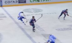 Video: Tēlošanas meistarklase KHL mačā