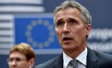 Krievijas politikas dēļ NATO reformēs komandstruktūru, paziņo Stoltenbergs