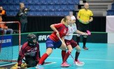 Latvijas florbolistes pasaules čempionāta mačā sīvā cīņā piekāpjas arī Norvēģijai