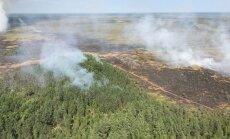 Ugunsgrēks Salas novadā ir ierobežots; Ramatas pagastā purvs vēl deg